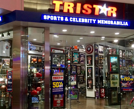 TRISTAR Sports Memorabilia: Miracle Mile Shops at Planet