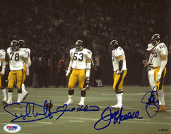 THE STEEL CURTAIN DEFENSE Pittsburgh Steelers 1970s Poster Print