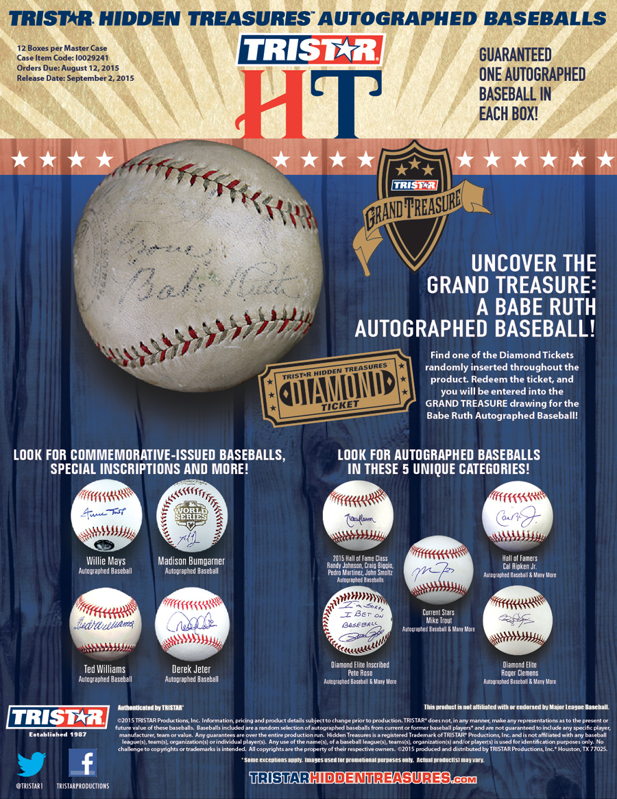 TRISTAR Hidden Treasures Autographed Baseball Series 7