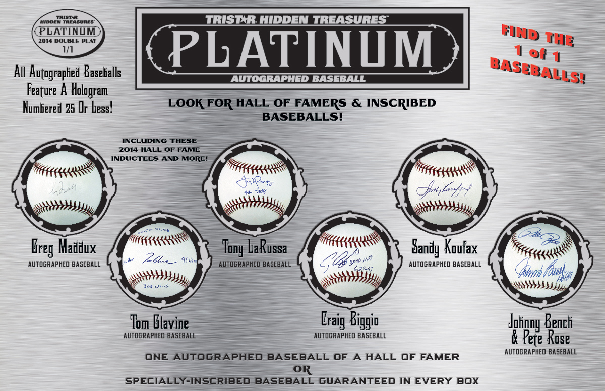 TRISTAR Hidden Treasures Autographed Baseball Platinum Edition